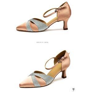 Salsa/Latin indoor dance shoes beige size 9